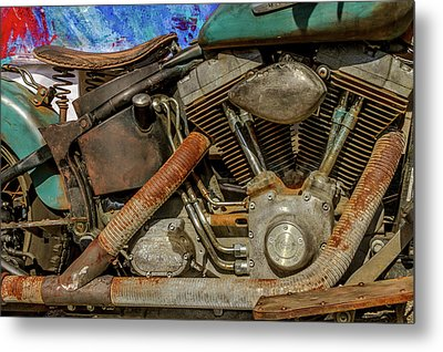 Metal Print featuring the photograph Harley Davidson - An American Icon by Bill Gallagher