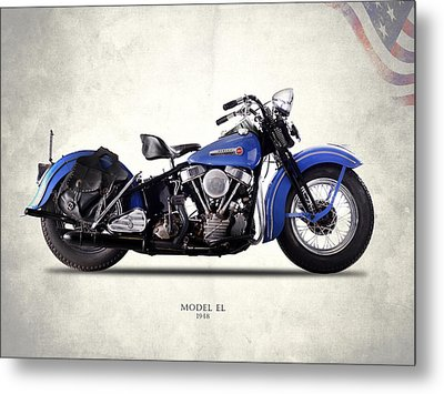 Harley-davidson El 1948 Metal Print by Mark Rogan