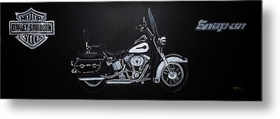Harley Davidson Snap-on Metal Print
