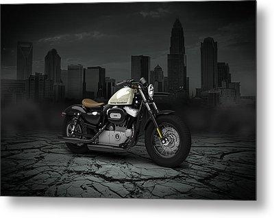 Harley Davidson Sportster Forty Eight 2013 City Metal Print