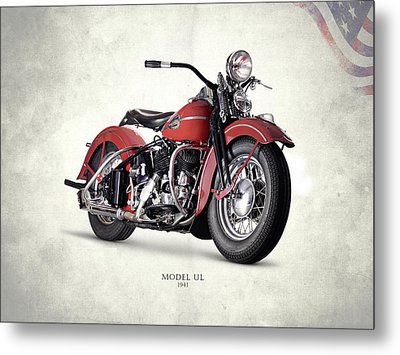 Harley-davidson Ul 1941 Metal Print by Mark Rogan