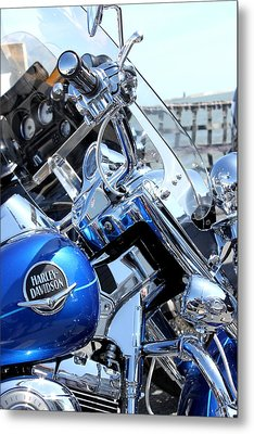 Harley-davidson Metal Print by Valentino Visentini