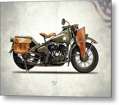 Harley-davidson Wla 1942 Metal Print by Mark Rogan