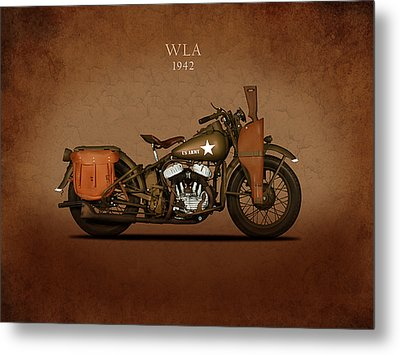Harley Davidson Wla Metal Print by Mark Rogan
