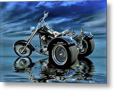 Harley Heritage Soft Tail Trike Metal Print by Steven Agius