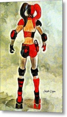 Harley Quinn Back - Pa Metal Print by Leonardo Digenio