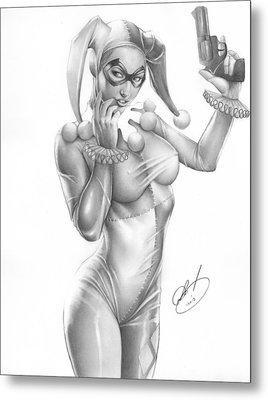 Harley Quinn Metal Print by Pete Tapang