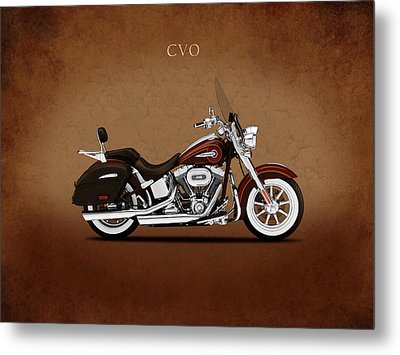 Harley Softail Deluxe Metal Print by Mark Rogan