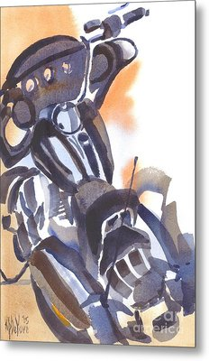 Metal Print featuring the painting Motorcycle Iv by Kip DeVore