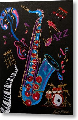 Harmony In Jazz Metal Print