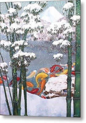 Harmony No.4 Winter Metal Print by Sumiyo Toribe