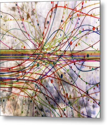 Metal Print featuring the digital art Harnessing Energy 1 by Angelina Vick