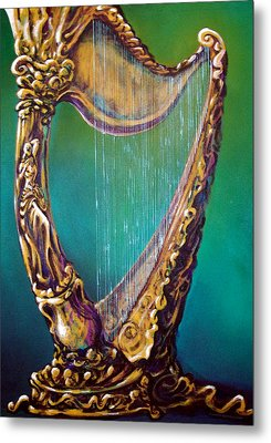 Metal Print featuring the painting Harp by Kevin Middleton