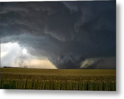 Harper Kansas Tornado 2  Metal Print by James Menzies