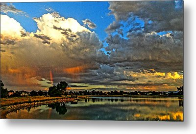 Metal Print featuring the photograph Harper Lake by Eric Dee