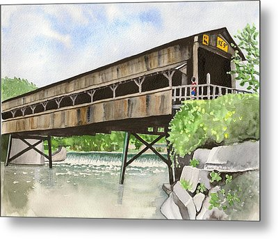 Harpersfield Bridge Metal Print