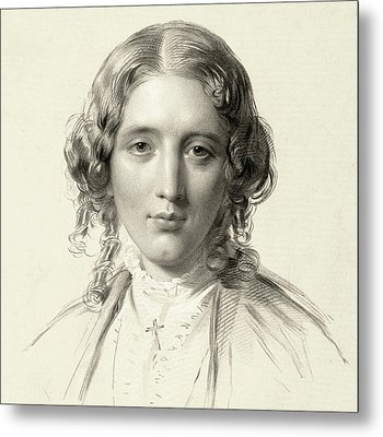 Harriet Beecher Stowe Metal Print by Francis Holl