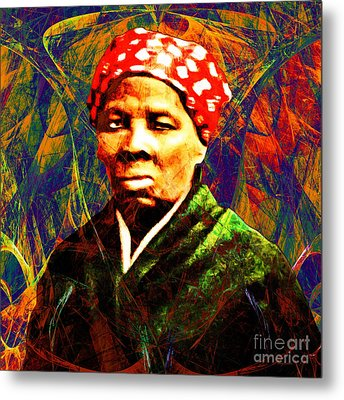 Harriet Tubman Underground Railroad In Abstract 20160422 Square Metal Print