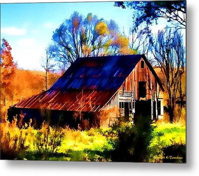 Metal Print featuring the photograph Harrison Barn by Kathy Tarochione