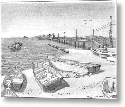 Harrisons Pier Ocean View Metal Print