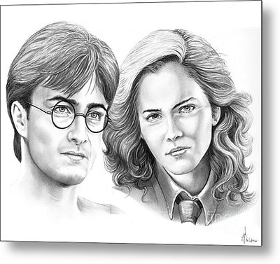 Harry Potter And Hermione Metal Print by Murphy Elliott