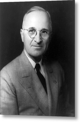 Metal Print featuring the photograph Harry S Truman - President Of The United States Of America by International  Images