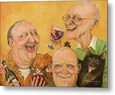 Harry's Lodge Meeting Metal Print by Shelly Wilkerson