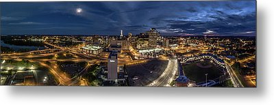 Hartford Ct Night Panorama Metal Print by Petr Hejl