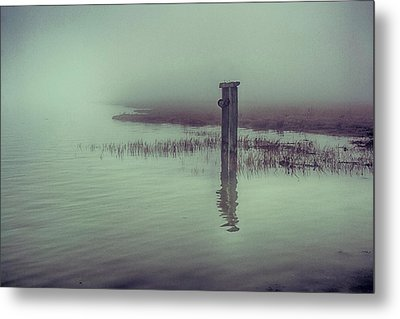 Harty Ferry In The Fog Metal Print