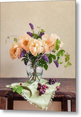 Harvest Bouquet Metal Print