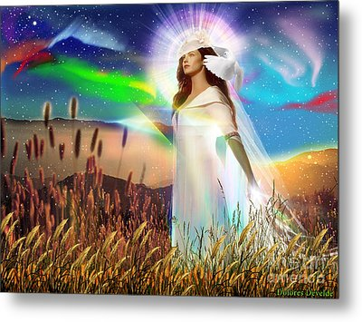 Harvest Bride Metal Print by Dolores Develde