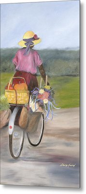 Harvest Finds Metal Print by Shirley Lawing
