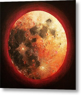 Harvest Full Moon Metal Print