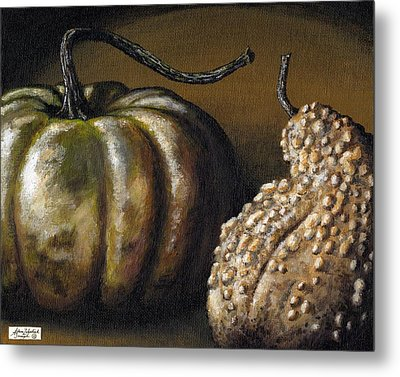 Harvest Gourds Metal Print