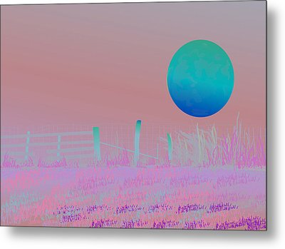 Harvest Moon Metal Print by Amy Williams