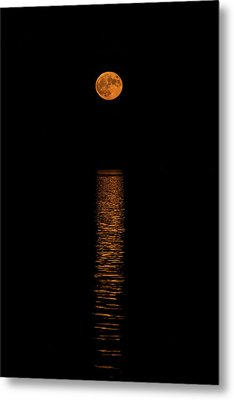 Metal Print featuring the photograph Harvest Moonrise by Paul Freidlund