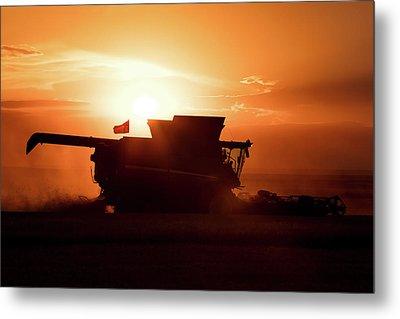 Harvest Silhouette Metal Print by Todd Klassy