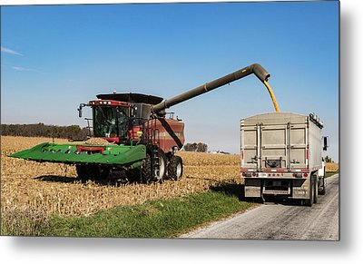 Harvest Time. Metal Print by William Morris