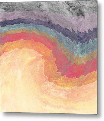 Harvest Wind- Abstract Art By Linda Woods Metal Print