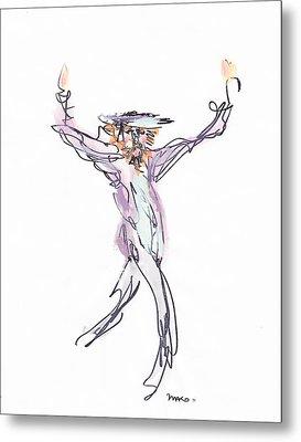 Hasidic Dancer Metal Print