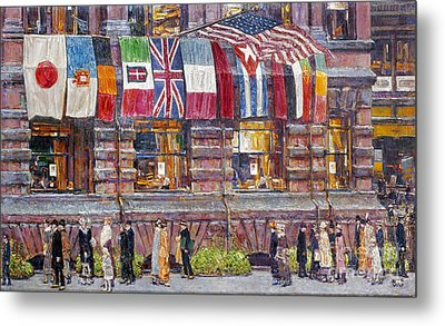 Hassam: Allied Flags, 1917 Metal Print by Granger