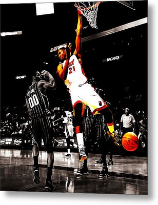 Hassan Whiteside Metal Print by Brian Reaves