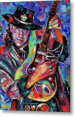 Hat And Guitar Metal Print by Debra Hurd