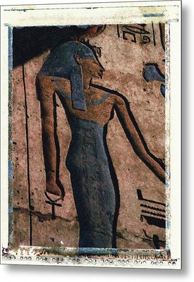 Hathor Holding The Ankh Sign Metal Print by Bernice Williams