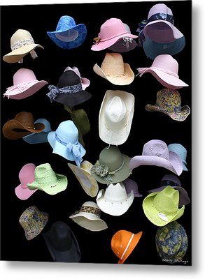Hats Off Metal Print by Shelly Stallings