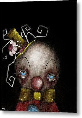 Hatter Clown Metal Print by  Abril Andrade Griffith