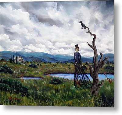 Haunted Desolation Metal Print by Laura Iverson