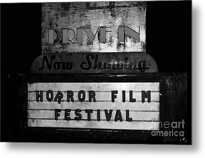 Haunted Drive In Metal Print by David Lee Thompson