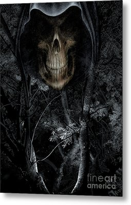 Metal Print featuring the photograph Haunted Forest by Al Bourassa