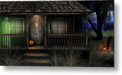 Metal Print featuring the digital art Haunted Halloween 2016 by Anthony Citro